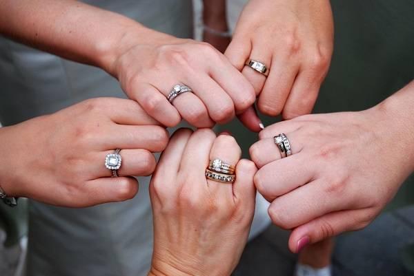 На какой руке и на каком пальце носят обручальные кольца в россии?