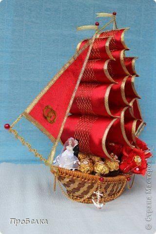 Подарки из конфет. корабль из конфет своими руками | podelki-doma.ru