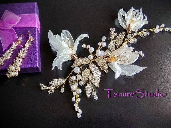 Свадебные украшения из бисера. варианты, советы, фото.