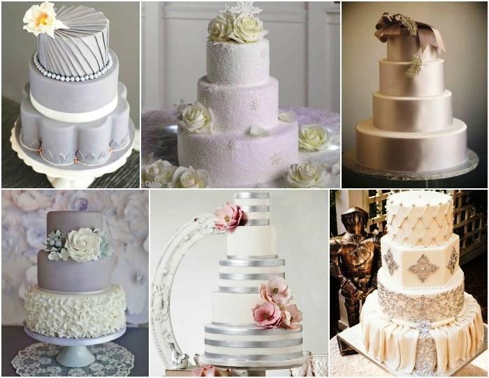 Торт на серебряную свадьбу из мастики или из крема, как сделать своими руками, фото и видео