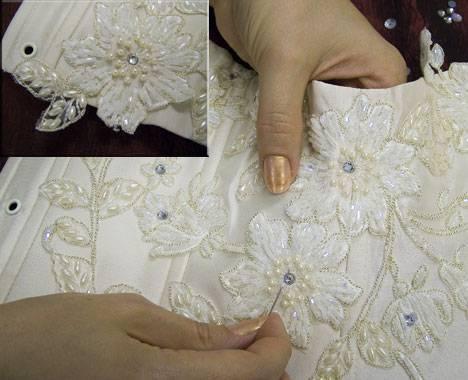 Как сделать свадебный пояс своими руками?