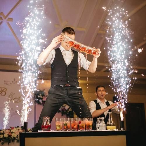 Бармен-шоу на свадьбе. развлечения для гостей
