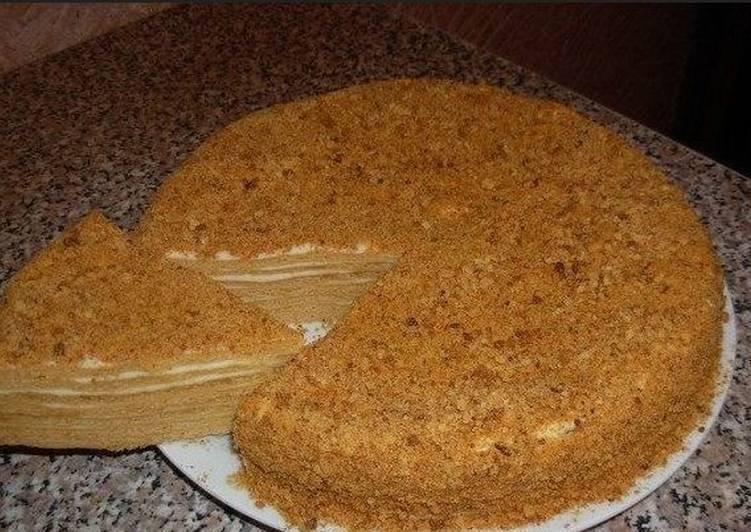 Торт спартак или шоколадный медовик с заварным кремом