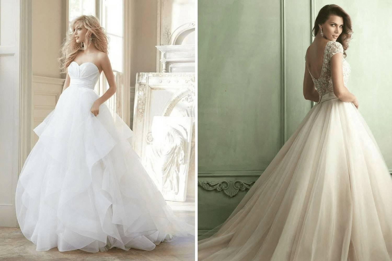 Классическое свадебное платье (фото)
