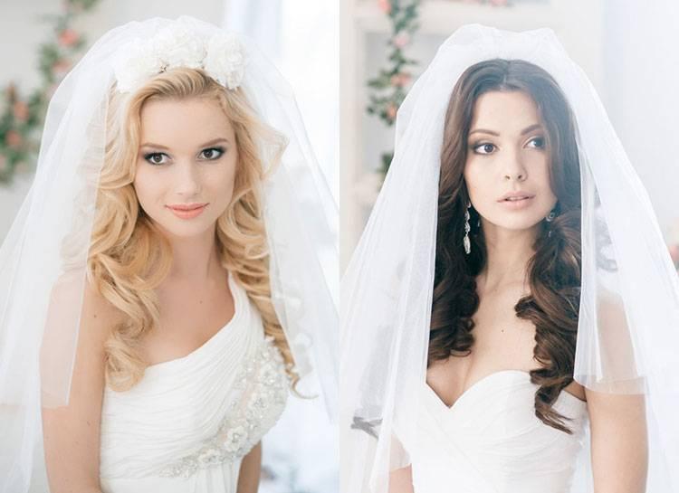 Свадебные прически с фатой: 14 идей для невесты