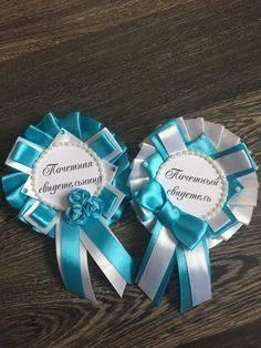 Значки и ленты для свидетелей на свадьбу, мастер-класс с фото
