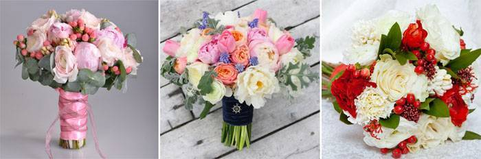 Осенний букет невесты (57 фото): выбираем свадебные варианты букетов с рябиной в осеннем стиле