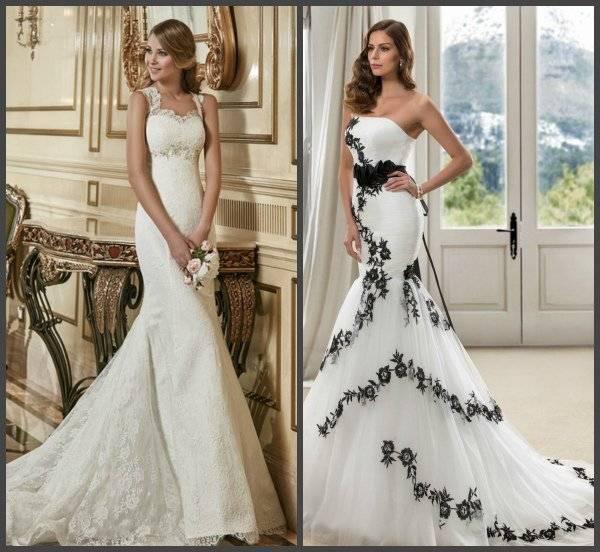 Короткое свадебное платье со шлейфом
