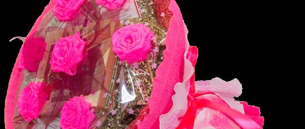 Как сделать свадебный букет из лент