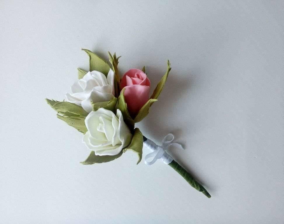 Красивая свадебная бутоньерка своими руками. украшения на свадьбу. пошаговый мастер-класс с фото