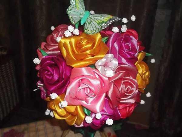 Как из ленты сделать цветок своими руками?