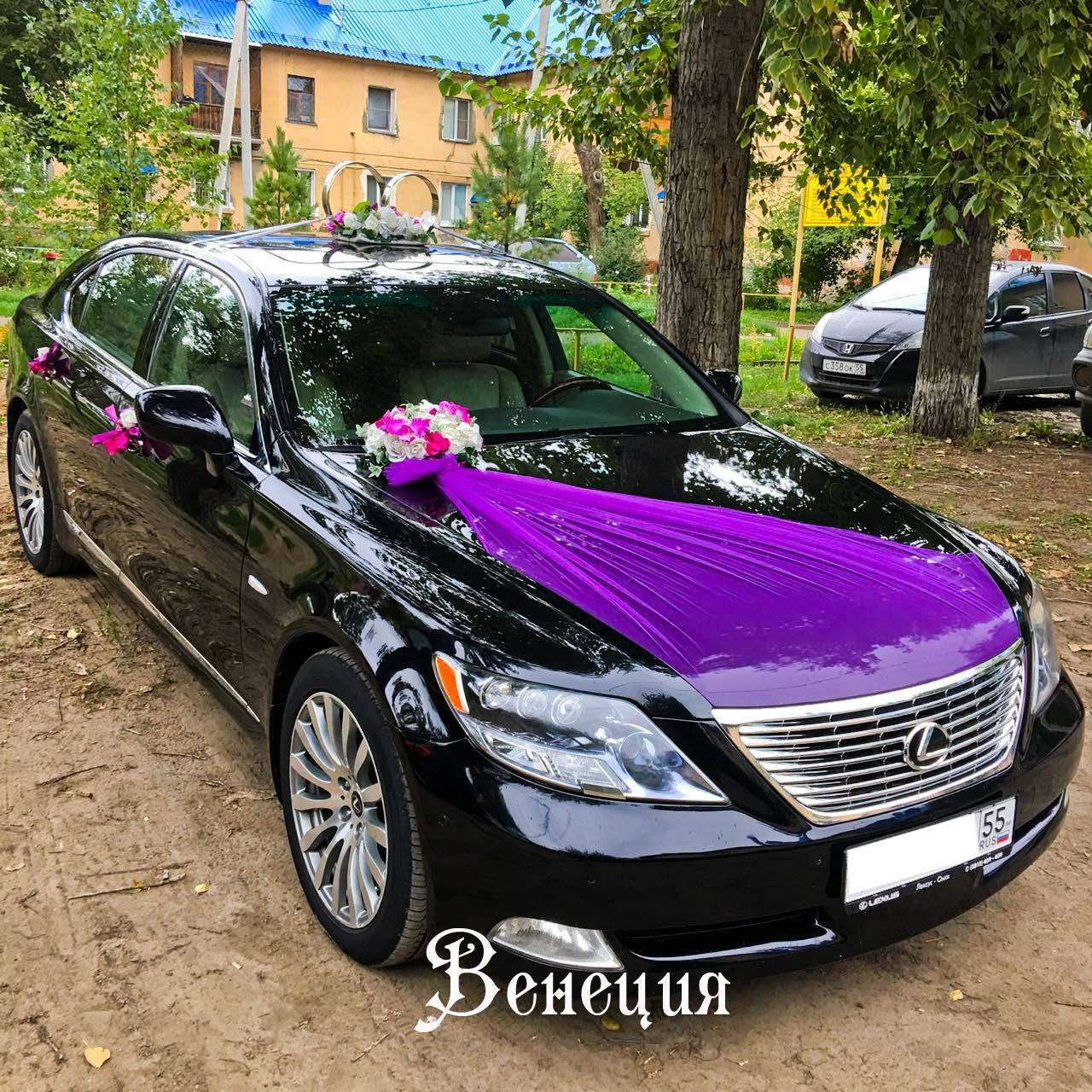 Украшение машины на свадьбу