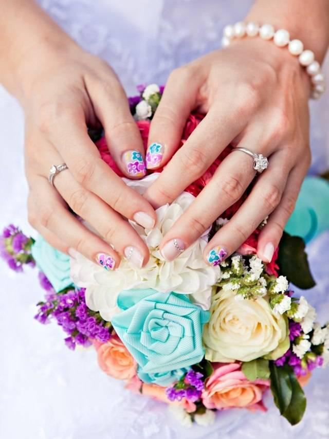 Красивый свадебный маникюр невесты 2020-2021 года – фото, идеи, новинки, тенденции свадебного маникюра | glamadvice