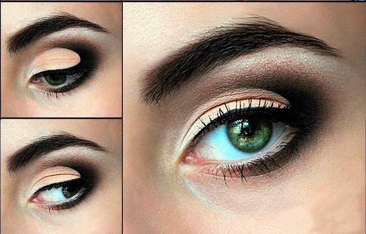 Вечерний макияж для голубых глаз: идеи и видео-уроки