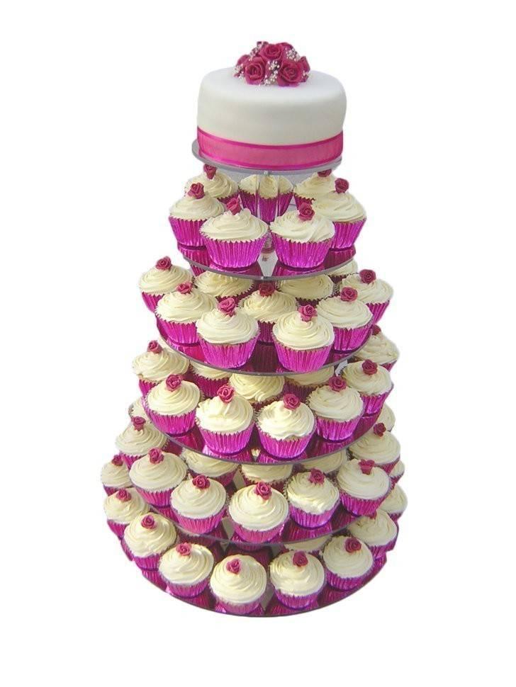 Торт на свадьбу с капкейками: фото, интересные идеи и видео
