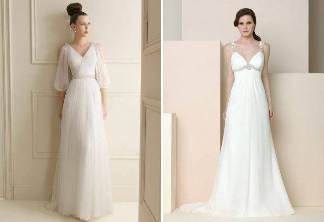Фасон свадебного платья в греческом стиле (фото)