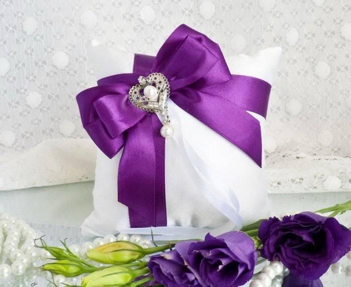 Как сшить свадебную подушечку для колец своими руками: мастер-класс для начинающих
