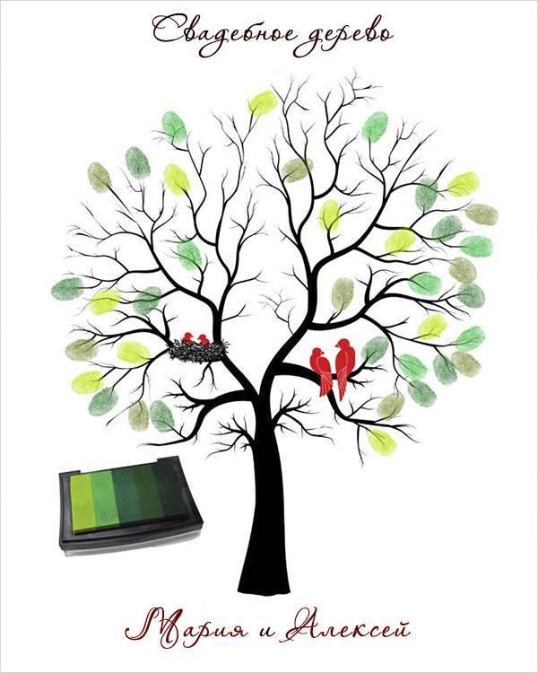 Дерево пожеланий на свадьбу: как сделать, где скачать шаблоны, фото и видео мастер класс