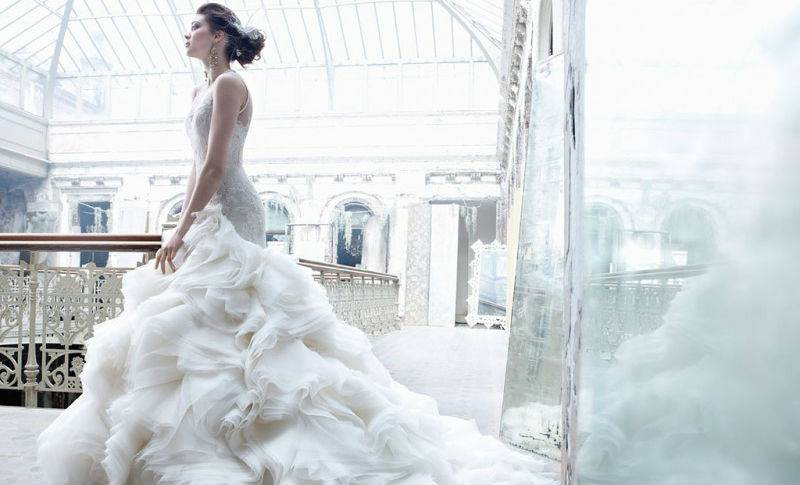 Свадебное платье в стиле 60 х