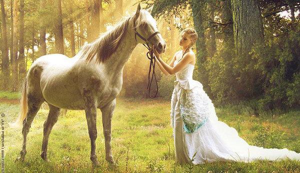 Оригинальные идеи для зимней свадебной фотосессии