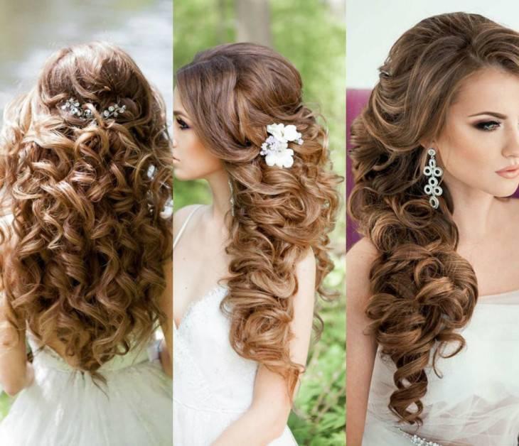 Красивые свадебные прически на средние волосы – с фатой, челкой, диадемой, цветами