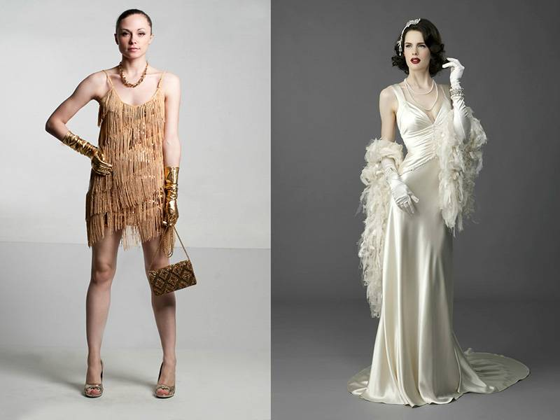 Свадебные платья в ретро стиле и стилизованные свадьбы