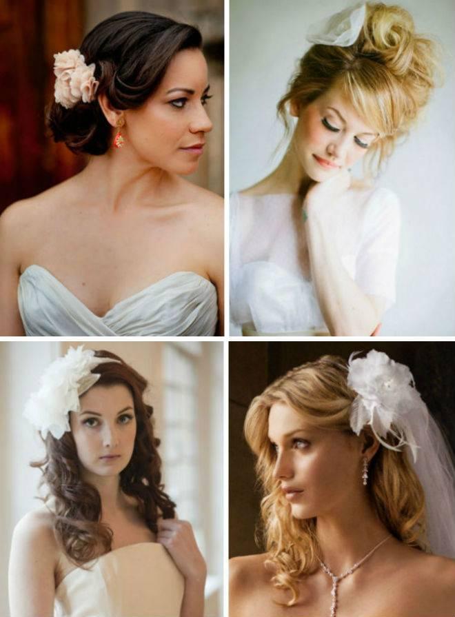 Свадебные прически с цветами на длинные, средние, короткие волосы (с фото)   женский журнал читать онлайн: стильные стрижки, новинки в мире моды, советы по уходу