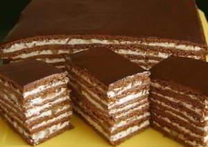 Шоколадный торт с орехами - пошаговый рецепт с фото на повар.ру