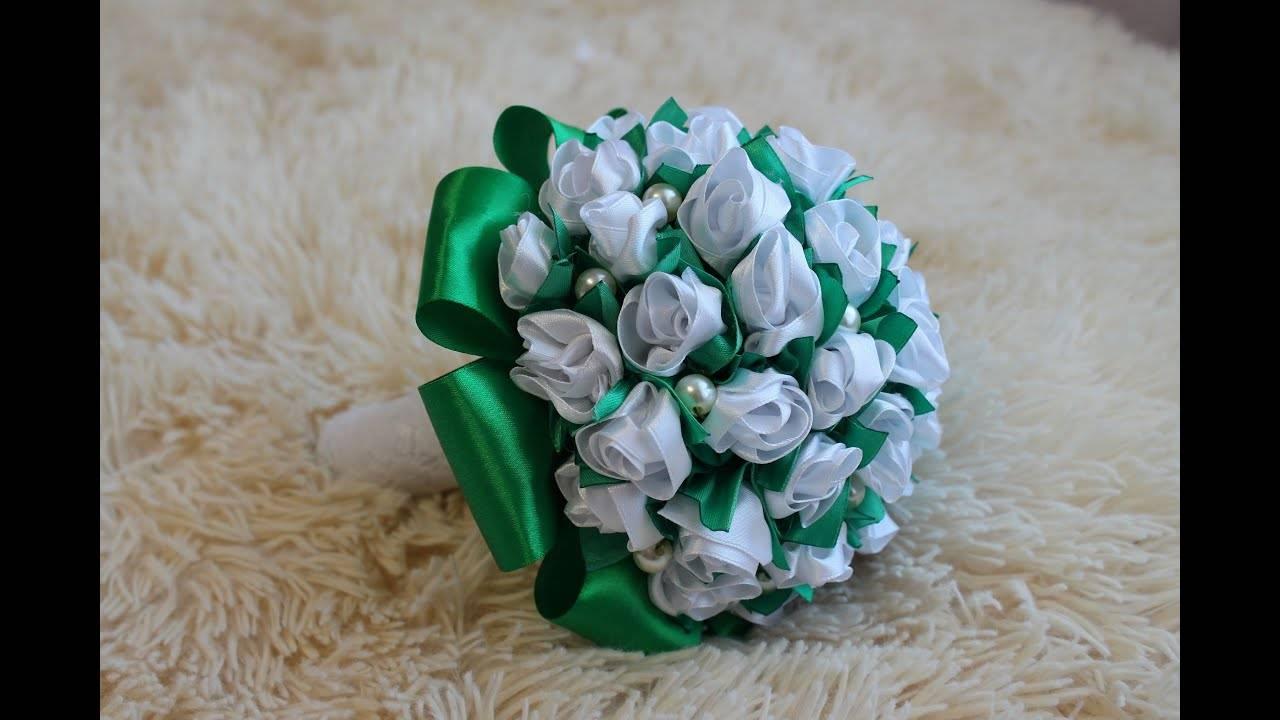 Свадебный букет невесты из бижутерии: как сделать цветы из брошек и украшений своими руками