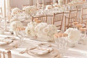 Идеи оформления свадьбы в цвете айвори